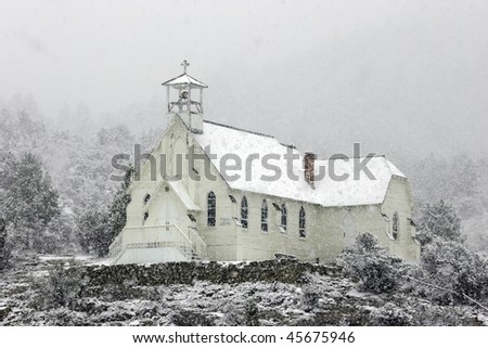 Ghost town church in Silver City, Idaho. - stock photo