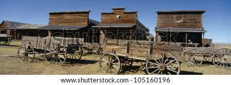 Ghost Town, Cody, Wyoming - stock photo