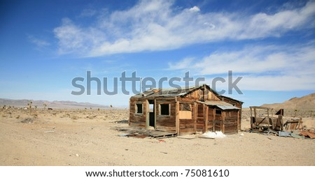 ghost town in the old wild wild west of california or nevada - stock photo