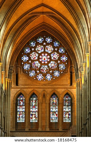 ghotic cathedral in Truro,UK - stock photo