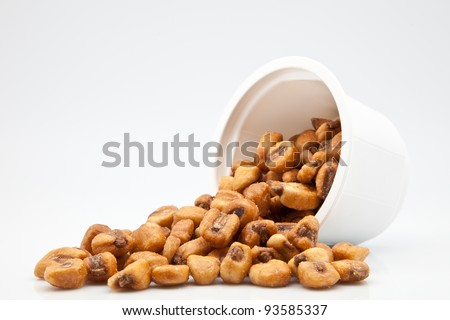 Giant corn fried with salt - stock photo