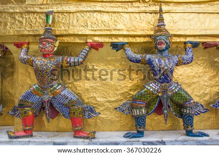 giant in the Temple of the Emerald Buddha