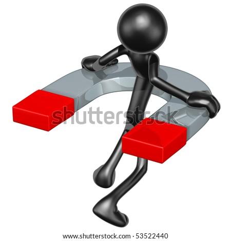 Giant Magnet Concept - stock photo