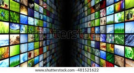 Giant multimedia video and image walls