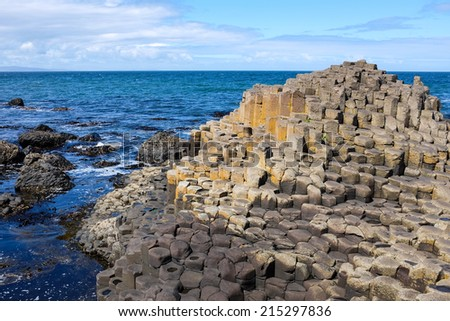 Giant's Causeway, Co. Antrim, Northern Ireland - stock photo