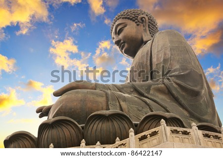 Giant Sitting Buddha.. Hong Kong - stock photo