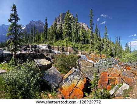 Giant Steps, Paradise Valley  Lake Louise, Banff National Park, Alberta, Canada - stock photo