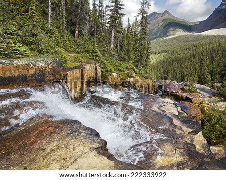 Giant Steps, Paradise Valley, Lake Louise, Banff National Park, Alberta, Canada - stock photo