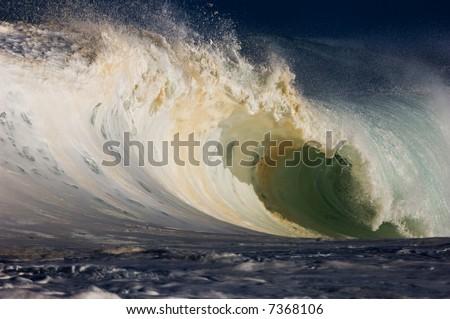 giant wave - stock photo