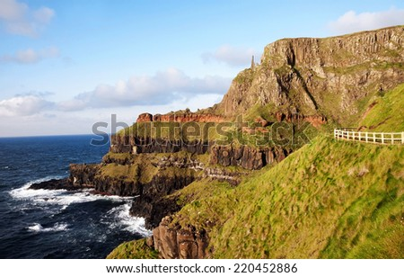 Giants Causeway, Ireland - stock photo