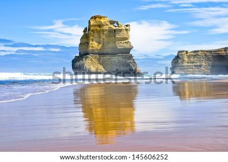 Gibson Steps and the Twelve Apostles, Victoria (Australia)  - stock photo