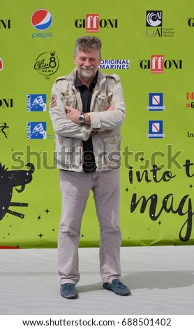 Giffoni Valle Piana, Sa, Italy - July 17, 2017 : Alessandro D'Alatri at Giffoni Film Festival 2017 - on July 17, 2017 in Giffoni Valle Piana, Italy