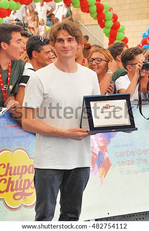 Giffoni Valle Piana, Sa, Italy - July 18, 2015: Angelo Duro  at Giffoni Film Festival 2015 - on July 18, 2015 in Giffoni Valle Piana, Italy