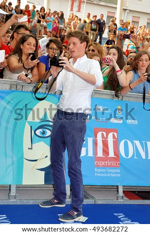 Giffoni Valle Piana, Sa, Italy - July 26, 2013 : Eddie Redmayne at Giffoni Film Festival 2013 - on July 26, 2013 in Giffoni Valle Piana, Italy