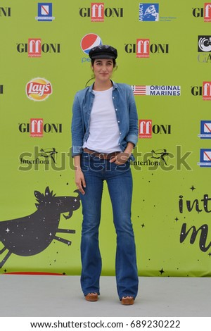 Giffoni Valle Piana, Sa, Italy - July 17, 2017 : Levante at Giffoni Film Festival 2017 - on July 17, 2017 in Giffoni Valle Piana, Italy