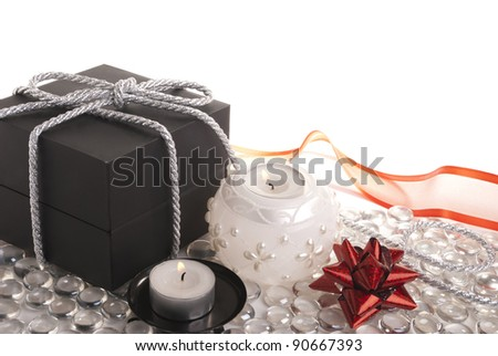 Gift and candles