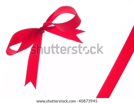 gift bow isolated on the white background