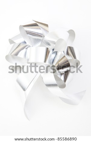 gift bow isolated on white - stock photo