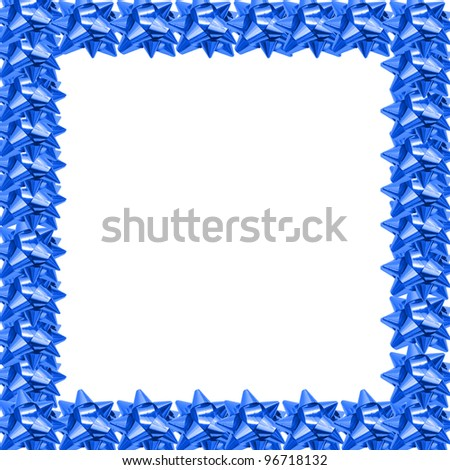 gift bows border - stock photo