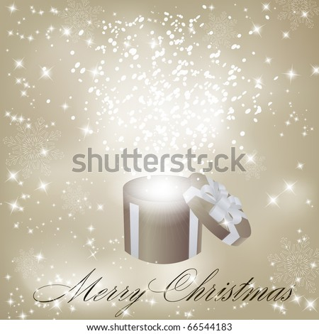 Gift box abstract background - stock photo