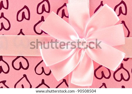 gift box background - stock photo