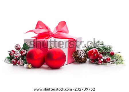 gift box, bump Isolated on white background - stock photo