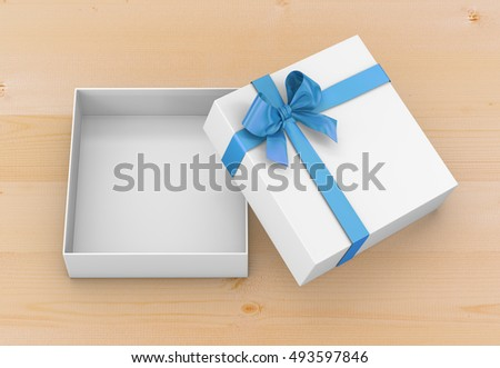 Gift Box 3d Render Top View Stock Illustration 411841066 ...