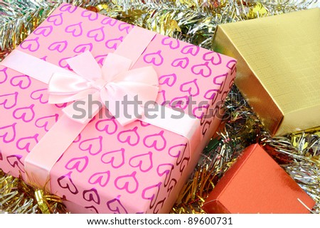gift box for every festival - stock photo