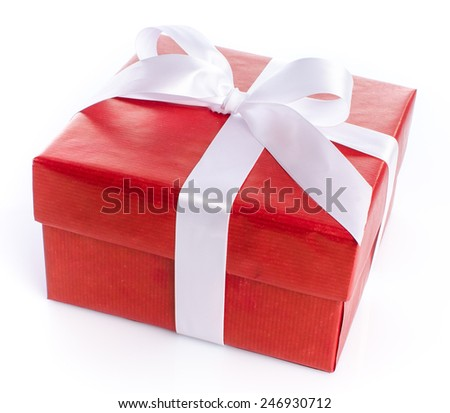Gift box, isolated on white