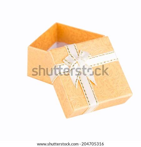 Gift Box Isolated On White Background - stock photo