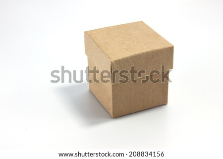 gift box on paper background