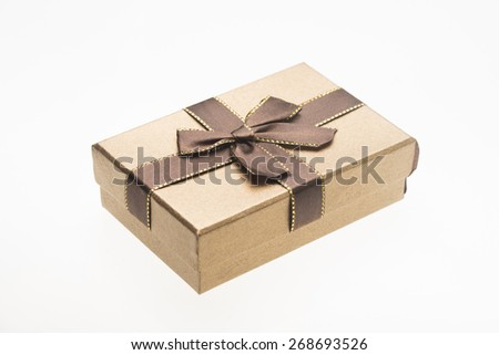 gift box on white background - stock photo
