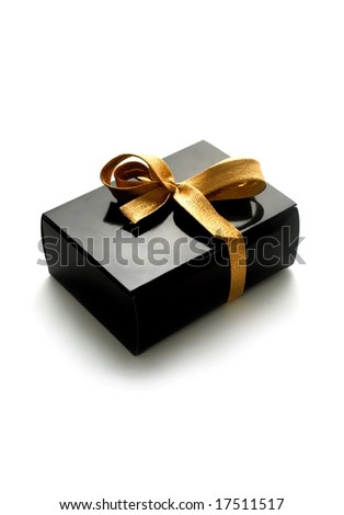 gift box on white background. best for theme: christmas, sale, shopping, birthday, anniversary - stock photo