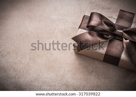 Gift box paper on vintage background holiday concept.