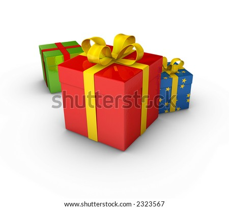 gift box set - stock photo