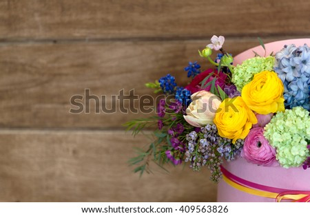 gift box with beautiful flowers