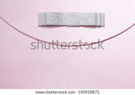 Gift Box with bow for background - stock photo
