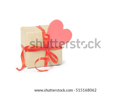 gift box with gift tag. valentines day