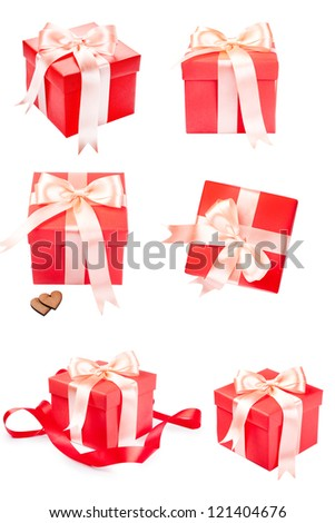 Gift box with satin present bow