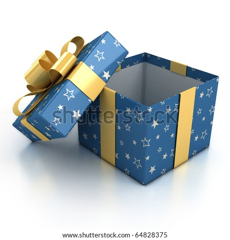 gift boxes over white background 3d illustration - stock photo
