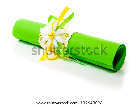 Gift bundle of congratulations. Photo for microstock - stock photo