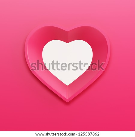 gift card for Valentine's day. 3d render - stock photo