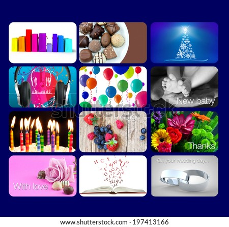 gift card gifts aimed at mums, dads, children, teenagers etc! - stock photo