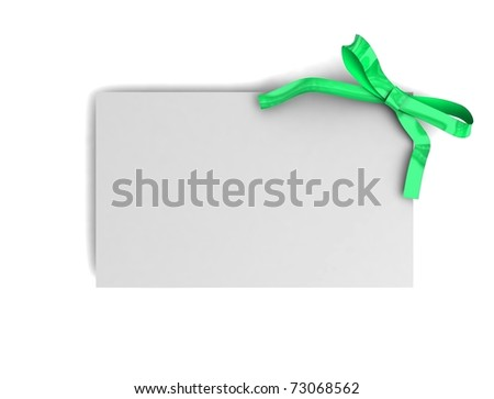 Gift card isolated on white. 3d illustration