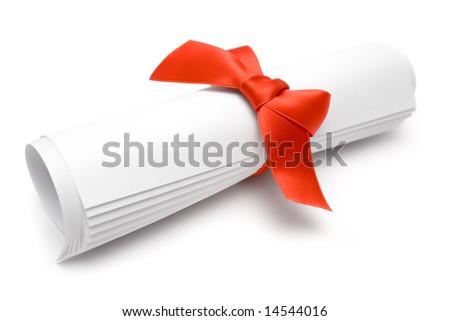 Gift Certificate - stock photo