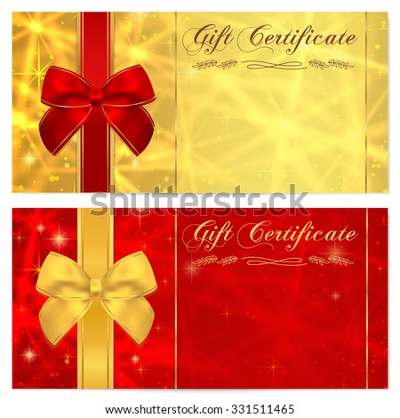 gift certificate background