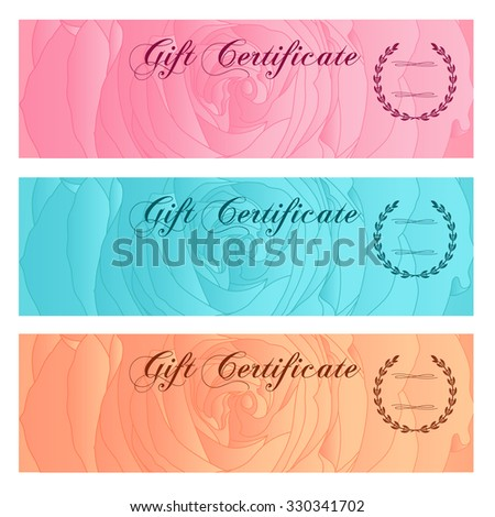 Voucher Gift Certificate Coupon Ticket Template Illustration – Money Coupon Template