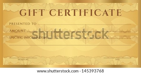 Gift Certificate Voucher Coupon Template Layout Illustration – Ticket Voucher Template