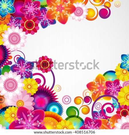 Gift festive floral design background. - stock photo