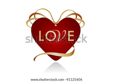 Gift icon for Valentine's Day. - stock photo
